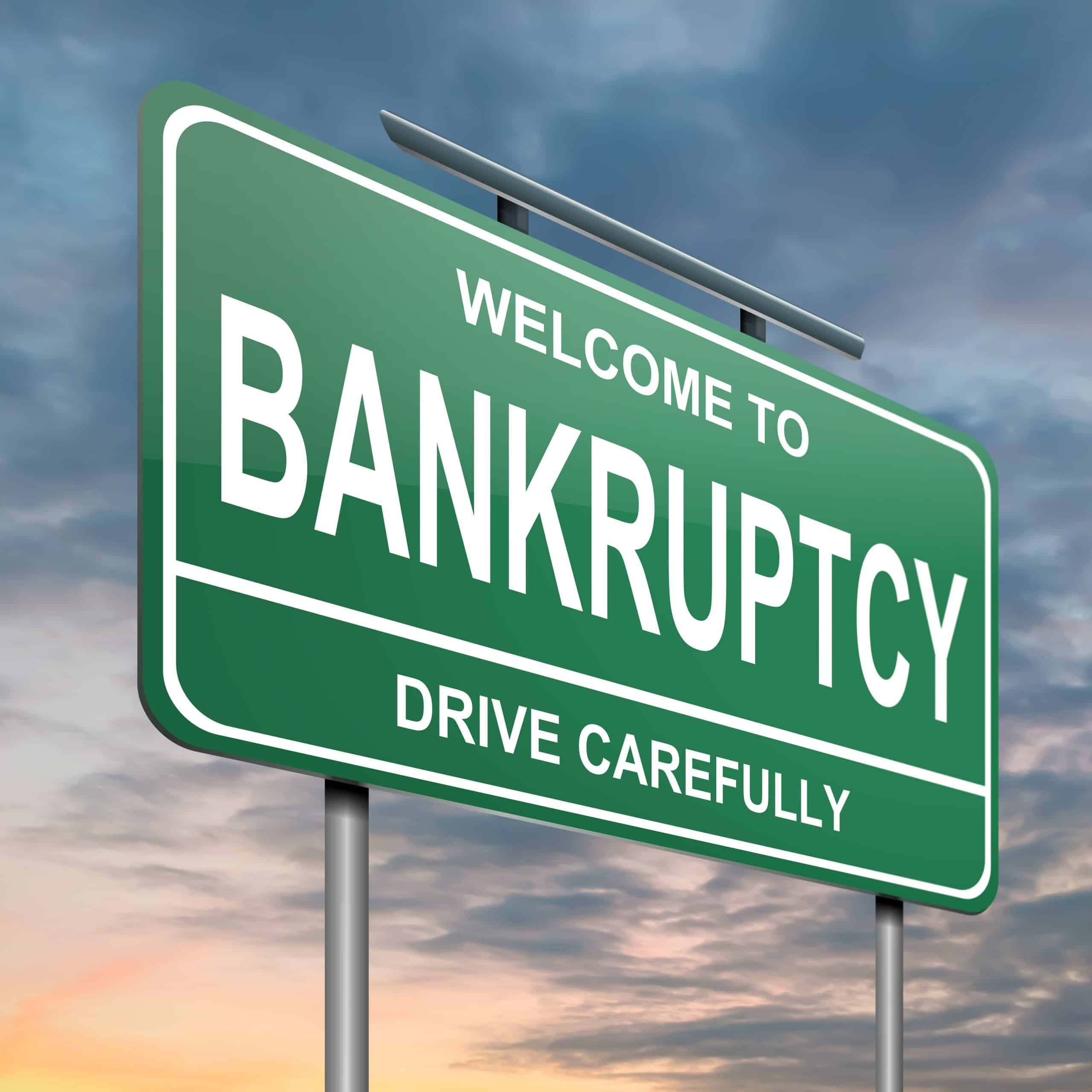 Bankruptcy Concept.