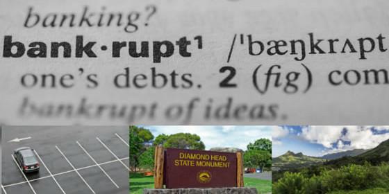 Bankruptcy Disrupts Parking At Several State Parks