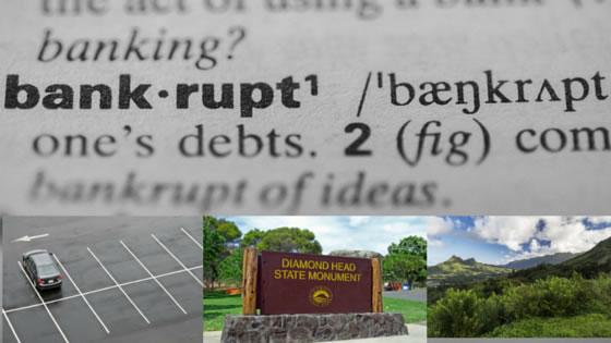 bankruptcy disrupts parking