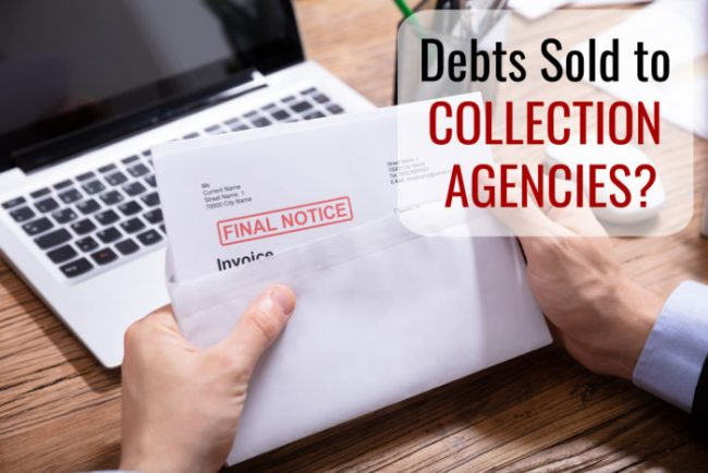 debts sold to collection agencies